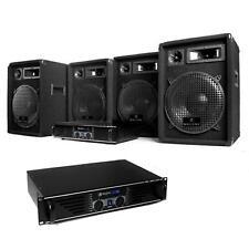 EQUIPO DJ COMPLETO PA 2 AMPLIFICADORES 480W 4 ALTAVOCES 400W CABLES PROFESIONAL