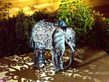 Smart Solar Metal Silhouette Elephant Garden Patio Path Solar LED Light Ornament