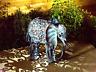 Smart Solar Metal Silhouette Elephant Garden Patio Path Solar LED Light Ornament