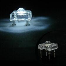 10 pcs 3mm Piranha Super Flux LED Light Bulb 20000 mcd White