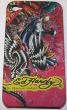 "Coque TPU  iPhone 4 4G Design ED Hardy ""PANTHERE NOIR"""