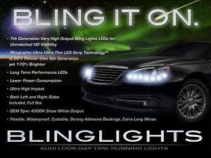 2011 2012 2013 2014 Chrysler 200 LED DRL Head Light Strips Day Time Running Lamp