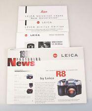 LEICA 1996 NEWS, R8, MINILUX, 80-200 ELMAR-R LENS AND CASES INFORMATION