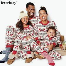 UK Family Matching Adult Kids Christmas Pyjamas Xmas Nightwear Pajamas PJs Set