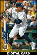 Topps BUNT Miguel Cabrera GOLD PHYSICAL SERIES BASE 2020 [DIGITAL CARD]