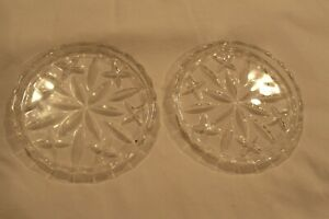 Vintage Pair of Glass Coasters