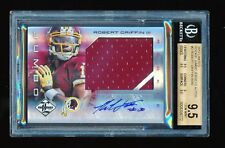 BGS 9.5 ROBERT GRIFFIN 2012 PANINI LIMITED ROOKIE JUMBO JERSEY AUTO RC #/49 *GEM
