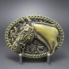 Buckle Western Horse, Pferd, Cowboy, antik Messing, Gürtelschnalle