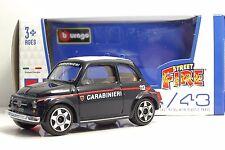 "Bburago 30000 FIAT500 ""Carabinieri""  + METAL Scala 1:43"