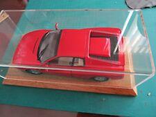 High Quality Display Case W/ Wood Base For 1/18 Ferrari CMC Exoto Testarossa