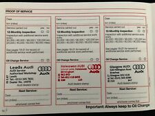 AUDI SERVICE BOOK STAMPED, BRAND NEW AND GENUINE FOR ALL MODELS, PETROL & DIESEL