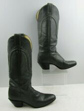 Ladies Justin Gray Leather western Cowgirl Boots Size :  7.5 B