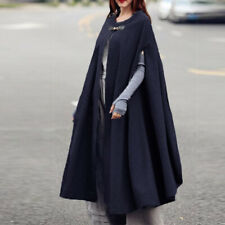 ZANZEA Womens Sleeveless Vintage Long Cape Cloak Coats Robe Winter Overcoats
