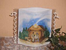 Tischlicht/Windlicht - Holy Night - Weihnachten/Winter