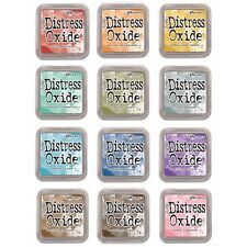 Ranger Tim Holtz DISTRESS OXIDE Ink Pads- Set Bundle of ALL 12 Colors (IN STOCK)