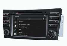 "E Class W211 Autoradio Navi GPS DVD per Mercedes-Benz USB Bluetooth iPhone 7"" HD"