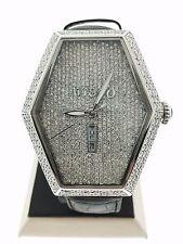 Avi&Co Mens Magnum XXL Delux Full Diamond Watch