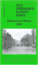 OLD ORDNANCE SURVEY MAP HALESOWEN WEST 1901