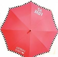 Victoria's Secret Limited Edition 2014 Full Size Logo Umbrella Neon Pink NWT