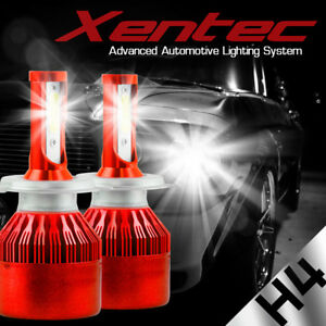 CREE H4 9003 HB2 200W 20000LM LED Headlight Kit White Light Bulbs High low Beam