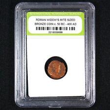 Ancient Roman Widows Mite Sized Bronze Coin c 50 B.C. - 400 A.D.