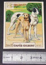 CHROMO 1936 CAFES GILBERT RACES DE CHIENS LEVRIER BARZOÏ SLOUGHI ARABE DOGS HUND