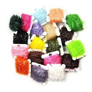 4pcs Fly Fishing Tinsel Ice Chenille Nymph Streamers Crystal Flash Cactus Line