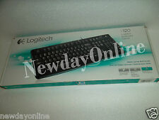 Logitech K120 Black USB Keyboard Spill-Resistant Quiet Typing 920-002478 NEW