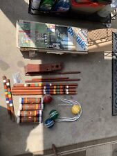 Vintage Forster 4 Player Croquet Set With Stand GREAT for Backyard