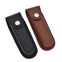 Fashion Leather Sheath Pocket For Folding Knife Multi Tool Case Pouch Holster #J