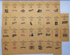1998 Strat-O-Matic Baseball Printed Storage Envelopes with Stats and Team Logo
