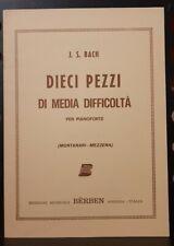 BACH - 10 Pezzi di media difficoltà per pianoforte - ed Berben