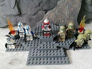 Lego star wars Figuren Clone 501st trooper/pilot/41st Kashyyyk elite corps/arc