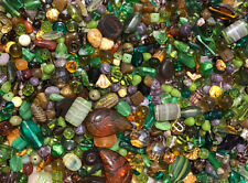 Czech Glass Beads 1lb Bag Of Assorted Shapes And Sizes: Forest Mix