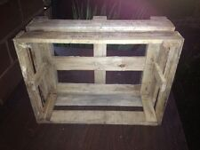 Vtg Wooden Crate Post Insulators Industrial Heavy Lid Cabin Cottage Beach Decor