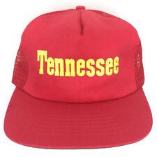 Vintage Tennessee Hat Logo State Cap Snapback Mesh Back Baseball Trucker Red