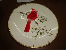 """Avon Plate 1974 Cardinal North American Song Bird 10.25"""" with Hanger L@K"""
