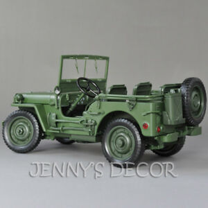 1:18 Diecast Car Model Toys Tactical Jeep Military Vehicle Willys Replica Gift
