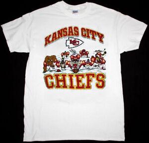 Retro Chiefs NFl Football T-Shirt White Unisex Cotton Reprint Men Women TK4626