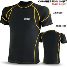 Mens Compression Base Layer Winter Thermal Armour Half Sleeve Sports Gym Shirt