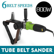 800W Tube Belt Sander Stainless Steel Pipe Polisher Sanding 60Hz Electric Great
