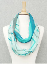 Mint and Multi Chevron and Stripe Infinity Scarf