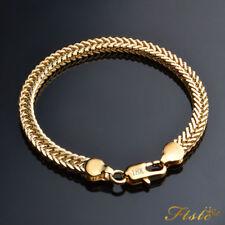 Elegant 14ct 9ct Yellow Gold Daimond Cut Band Soild Womens Mens Bracelet