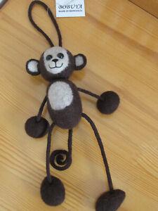 Mongolian Authentic 100 % Felt Eco Friendly Decoration Monkey Figure