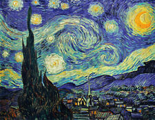 Art Wall Home Decor Van Gogh painting Starry sky Picture Printed on canvas FG34