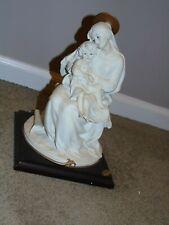 Giuseppe Armani Seated Madonna & Child Statue - White Finish - Mint Condition -