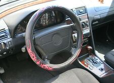 Hochwertiger Lenkrad Bezug Tribal rosa-rot von Richter für Audi Modelle 37,5-39