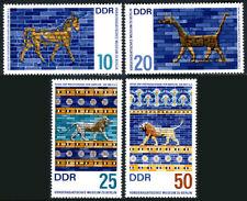 Germany DDR/GDR 873-876, MNH. Near East Museum, Berlin. Babylon 580 B.C., 1966