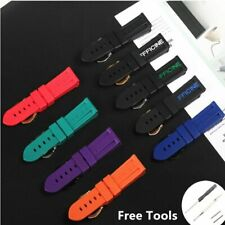 24 Soft Silicone Rubber Watch Band FITS Panerai PAM Strap BRAND QUALITY!