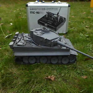 Tamiya 56010 1:16 RC Panzer Tiger 1 mitGraupner MC 15 Fernsteuerung 2.Weltkrieg